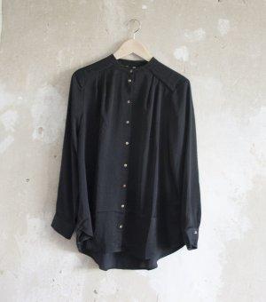 Schwarze Satin-Bluse von H&M