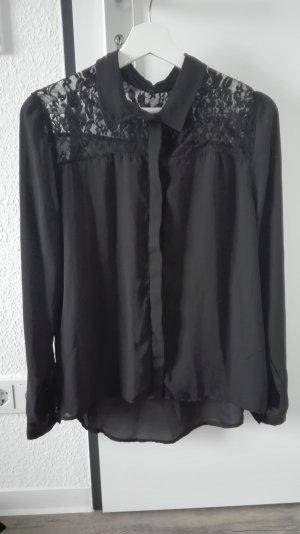 H&M Divided Lace Blouse black