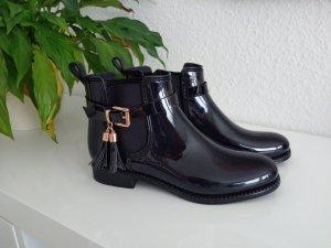 andrée Low boot noir matériel synthétique