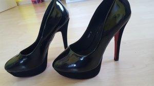 schwarze schicke high heels