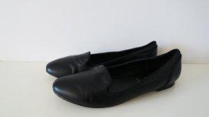 schwarze schicke Loafer Slipper Leder 39
