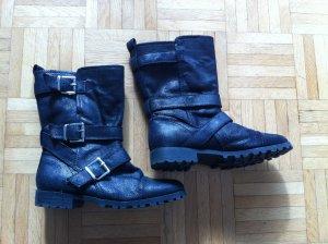 Schwarze,schimmernde H&M Boots