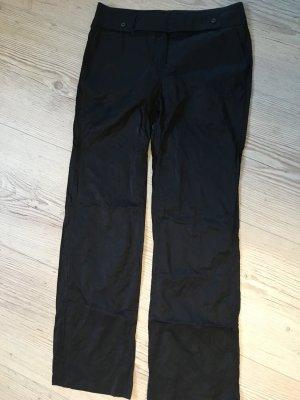 schwarze schimmernde Hose von Marc Aurel Gr 38, neu
