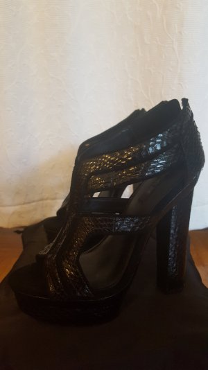 Rachel Zoe High Heel Sandal black reptile leather