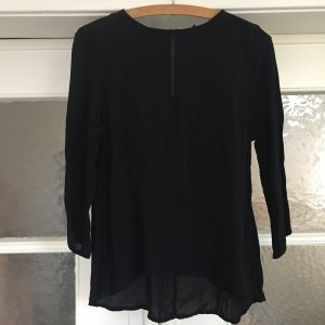 schwarze schlichte Bluse von Gina Tricot