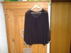 schwarze Schlupfbluse 44(16) mit Perlenärmel