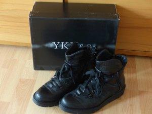 schwarze  Schnürboots von YKX & Co. Neupreis 129 €