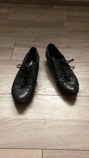 Schwarze Schnürschuhe / Schuhe von Graceland by Deichmann, Gr. 40