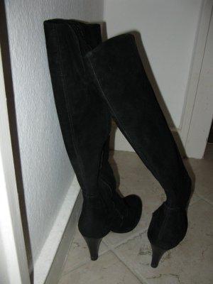 Schwarze schöne u. bequeme Stiefel aus Wildleder, D36, wie neu