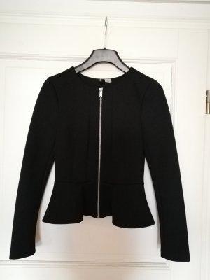 Schwarze Schößchen-Jacke in Größe 34