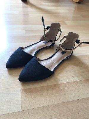Sandalias para uso en exteriores negro-color oro
