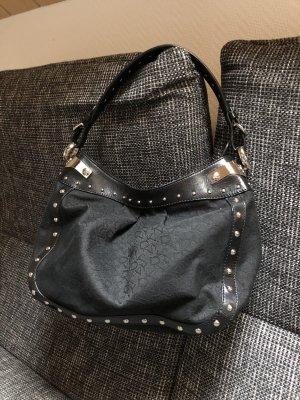 Schwarze Schultertasche von DKNY