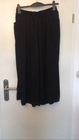 Schwarze Seiden-Hose