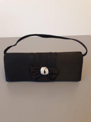 Schwarze, seidene Tasche
