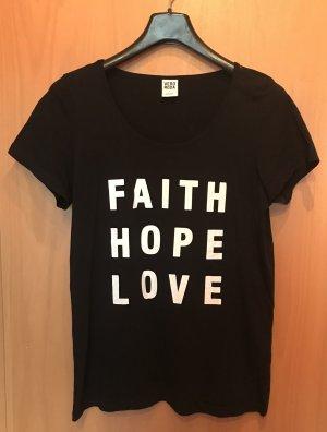 schwarze Shirt mit Print Vera Mode