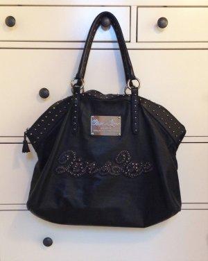 Schwarze Shopper-Tasche mit Nieten von Live & Love