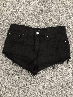 Pantalón corto de talle alto negro
