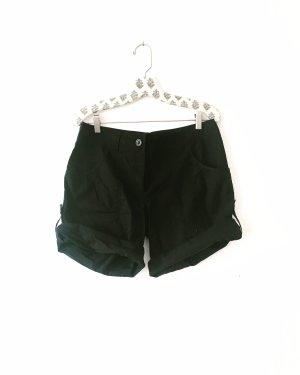 schwarze shorts • bermudas • vintage • oversized • bohostyle