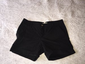 Mango Denim Shorts black cotton