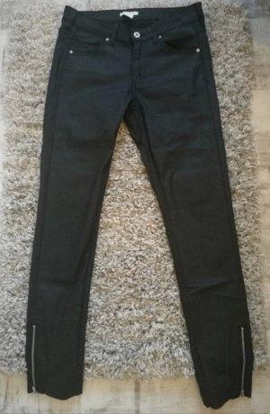 Schwarze Skinny H&M Röhrenjeans Hose W27 Gr.36