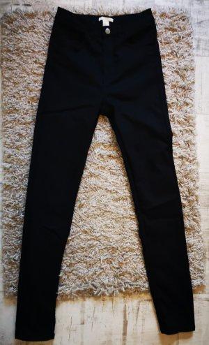 Schwarze Skinny High Waist Hose Jeans Gr.36