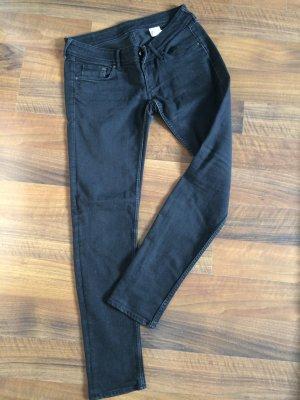 Schwarze Skinny-Jeans, H&M, 28/30
