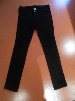 schwarze skinny low waist Jeans