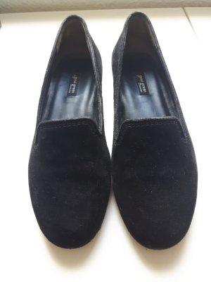 Schwarze Slipper aus Veloursleder von Paul Green