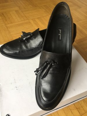 Schwarze Slipper/ Loafer von Paul Green