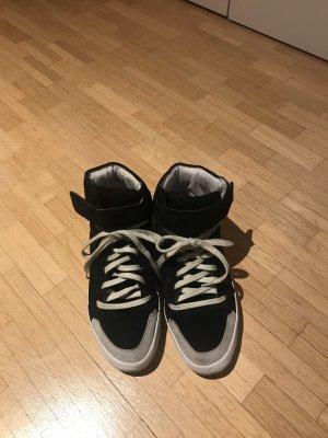 Isabel Marant Sneaker alta nero-bianco
