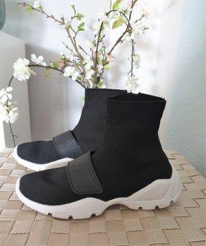 schwarze Sock-Sneaker von Mango