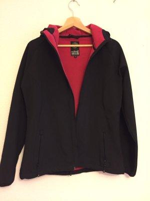 Chaqueta softshell negro-magenta