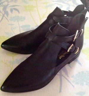 Heel Pantolettes black-light grey imitation leather