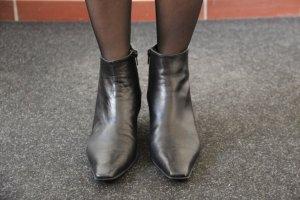 schwarze spitze Stiefeletten von Maripé in Größe 39, made in Italy, Leder