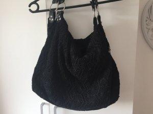 Schwarze spitzen Tasche in schwarz