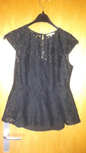 Mint&berry Kanten blouse zwart