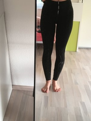 Schwarze Sportleggings