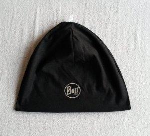 Schwarze Sportmütze von Buff in schwarz zum Joggen.