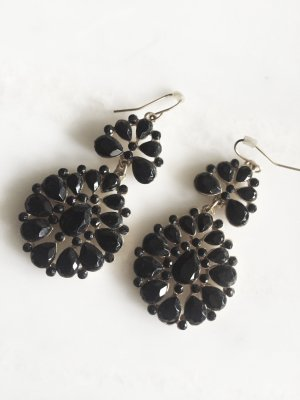 Accessorize Statement Earrings black-gold-colored