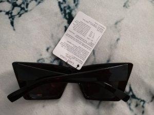 Schwarze Statement Sonnenbrille à la Lady Gaga
