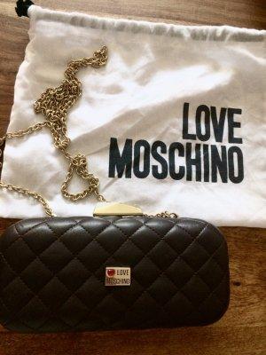 Schwarze Steppclutch Schultertasche von Moschino