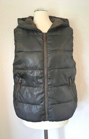 Vero Moda Gilet matelassé noir-brun foncé polyester