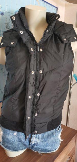 more photos 3be32 00eb9 schwarze Steppweste mit Kapuze von Adidas Gr XS