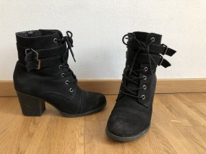 Steve Madden Booties black-silver-colored
