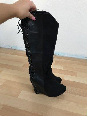 Schwarze Stiefel , Gr.38