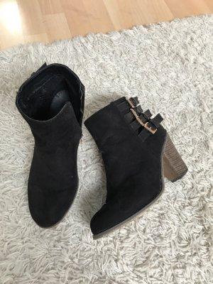Schwarze Stiefel, Gr.38