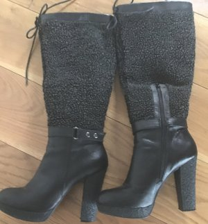 Cafènoir Platform Boots black leather