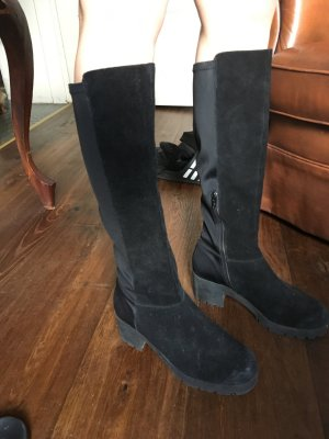 Bianco Stretch Boots black