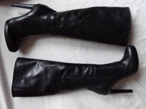 Made in Italy Botas de tacón alto negro Cuero