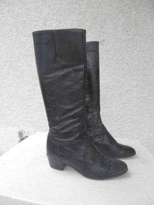 schwarze Stiefel mit Absatz Gr36